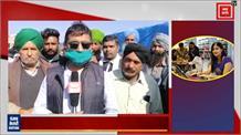सिंघु बॉर्डर पर किसानों ने डाला डेरा, किसानों के बीच पहुंचे कांग्रेसी विधायक ने सरकार पर बोला हमला