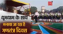 Shahjahanpur: धूमधाम के साथ मनाया जा रहा है Republic Day , कैबिनेट मंत्री सुरेश खन्ना ने ली परेड की सलामी