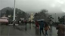 शिमला में एक बार फिर से ताजा बर्फबारी शुरू:live