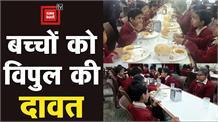 पूर्व मंत्री विपुल गोयल ने स्लम के बच्चों कासंडे बनाया फनडे, खिलाया स्वादिष्ट खाना