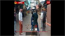 अलीगढ़ में CAA के प्रदर्शन के दौरान फायरिंग,फायरिंग का वीडियो हुआ वायरल