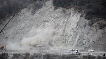 कुल्लू बाईपास पर सड़क निर्माण के दौरान Landslide