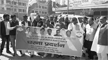 हरियाणा में दलितों के समर्थन में कांग्रेस की गर्जना, सड़कों पर उतर मोदी सरकार को घेरा