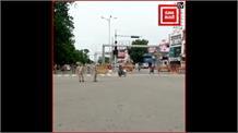 UP में 55 घंटे का लॉकडाउन, लखनऊ में सड़कों पर पसरा सन्नाटा....