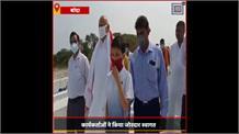 बांदा पहुंचे स्वास्थ्य मंत्री जय प्रताप सिंह, जिला अस्पताल का किया निरीक्षण