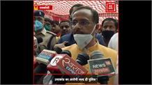कानपुर कांड: शहीद महेश यादव के गांव पहुंचे डिप्टी सीएम महेश शर्मा