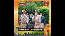 सोशल डिस्टेंसिंग के साथ बुलंदशहर में DM रविन्द्र कुमार ने फहराया तिरंगा, देशवासियों को दी बधाई