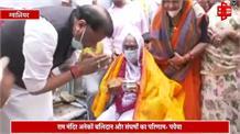 मंदिर आंदोलन में जान गंवाने वाले कारसेवक के घर पहुंचे पवैया, स्वर्गीय माता को किया नमन