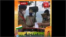 Almora में वरिष्ठ पुलिस अधीक्षक ने किया झंडारोहण, SSP ने पुलिस कर्मियों को दिया पुरस्कार