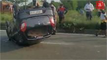 सांबा में हुआ जबरदस्त सड़क हादसा... आर्मी ट्रक से टक्कर के बाद कार ने खाई तीन पलटियां