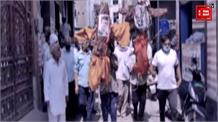 बहादुरगढ़में कांग्रेस ने किसानों के साथ बंद का समर्थन किया, जमकर की नारेबाजी