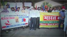 Sirsa में जुलूस की शक्ल में किसानों का विरोध प्रदर्शन, बाजारों में घुसकर बंद कराई दुकानें