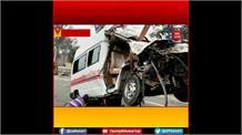 Bhadohi में भीषण सड़क हादसा: खड़े कंटेनर से टकराई तेज रफ्तार एंबुलेंस, 5 लोगों की दर्दनाक मौत