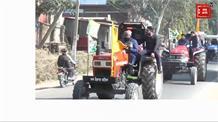 नालागढ़ में किसानों ने निकाली ट्रैक्टर रैली