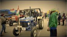 Palwal में किसानों ने की Tractor Parade की फाइनल रिहर्सल, तिरंगे झंडे के साथ भरी हुंकार