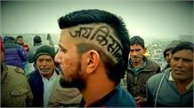 सिंघु बॉर्डर पर अनोखी हेयर कटिंग से किसानों का समर्थन, मोदी सरकार का विरोध, तस्वीरें दे