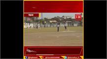 मंडला इंडोर स्टेडियम में सांसद कप का आगाज, केंद्रीय राज्य मंत्री फग्गन सिंह कुलस्ते  भी उतरे मैदान पर