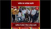 महंगाई के खिलाफ कांग्रेस का अनोखा प्रदर्शन, भैंस के आगे बीन बजाकर अनोखे तरीके से किया विरोध