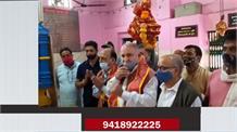 पूर्व मंत्री गुलाब सिंह ने मां सिमसा के दर नवाया शीश