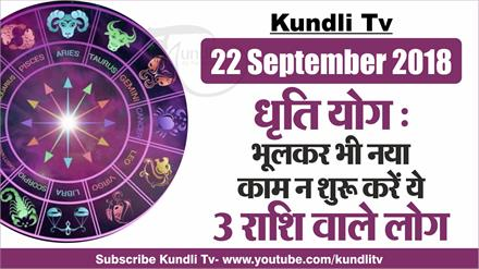 Aaj Ka Rashifal । 22 Sep 2018 । Dainik Rashifal । today horoscope ।  Daily Rashifal