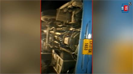 Solan में बड़ा हादसा ,Shimla -Chandigarh बस पलटी