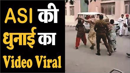 पुलिस अधिकारी को महिला आरोपियों ने चप्पलों से पीटा, Video Viral