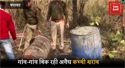 गन्ने के खेत में अवैध शराब की फैक्ट्री, पुलिस ने मारा छापा