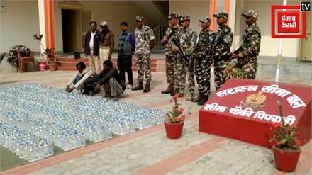नेपाली शराब की बड़ी खेप बरामद, दो तस्कर गिरफ्तार