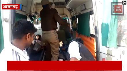 पुलिस मुठभेड़ के बाद पकड़े गए बदमाश, कई मामलों में थे वांछित