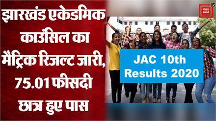 Jharkhand Board 10th Result 2020 : JAC का 10वीं का रिजल्ट जारी, 75.01 फीसदी स्टूडेंट्स हुए पास