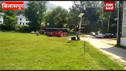 बिलासपुर पुलिस लाइन पर आतंकी हमला,एक को मार गिराया व एक को जिंदा पकड़ा(मॉक ड्रिल)