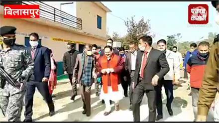 BJP राष्ट्रीय अध्यक्ष जेपी नड्डा ने अपने गृह जिला विजयपुर में  परिवार सहित किया मतदान