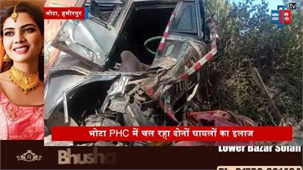 हमीरपुर में हनुमान जी के मंदिर में घुसा तेज रफ्तार ट्रक