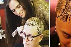 कैंसर पीड़ितों को खुश करने के लिए यहां दिया जाता हैं हिना क्राउन