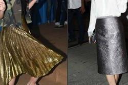 मैटेलिक स्कर्ट में बॉलीवुड हसीनाएं, मैटल लुक का छाया ट्रैंड