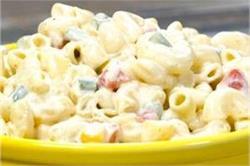 घर पर बनाएं टेस्टी एंड स्पाइसी Macaroni Salad