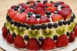 फ्रैश फ्रूट केक