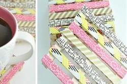 पॉप्सीक्ल स्टिक से बनाएं Mini Pallet Coasters