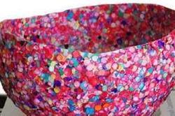 खुद ही बनाएं Glitter Bowl