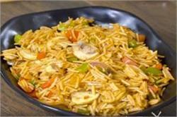घर पर बनाए Spicy Mushroom Pulao
