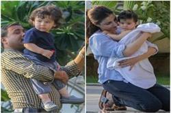 बहन इनाया के साथ पूल पर एन्जॉय करते दिखें तैमूर अली खान
