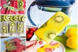 गर्मी में बच्चों को बना कर खिलाएं  Kiwi Coconut Chia Popsicles