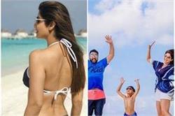मालदीव में कुछ इस तरह एन्जॉय कर रही हैं शिल्पा, देखें तस्वीरें