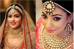 इंडियन ब्राइड पर खूब सूट करेंगे ये ट्रैंडी Maang tikka और Matha patti Designs