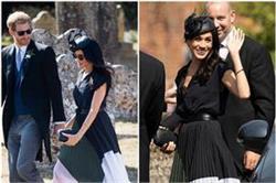 प्रिंस हैरी के साथ ब्लैक ड्रैस में शादी अटेंड करने पहुंची मेघन, देखिए तस्वीरें