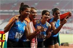 एशियन गेम्स में भारतीय महिला रिले टीम ने जीता गोल्ड मेडल