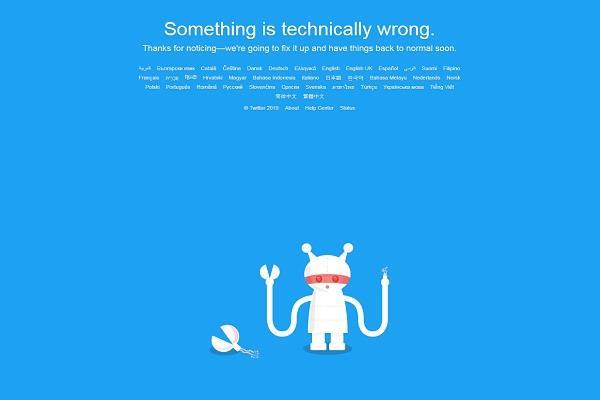 सोशल साइट ट्विटर हुआ डाउन, दुनियाभर में सेवाएं हुईं ठप