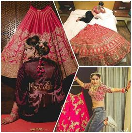 photoshoot ideas with wedding lehengas