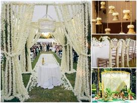 try wedding decor with jasmine flowers