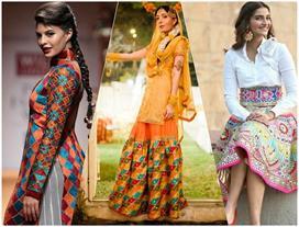 Try Phulkari suit on Lohri and Makar Sankranti